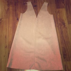 Zara light pink suede mini dress